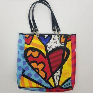Romero Britto Medium Heart Tote Bag